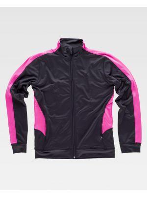 Fitness workteam chaqueta deportiva s7551 de poliéster con impresión vista 2