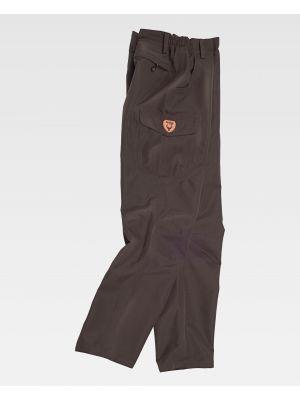 Pantalones de trabajo workteam s8300 de poliéster con logo vista 2