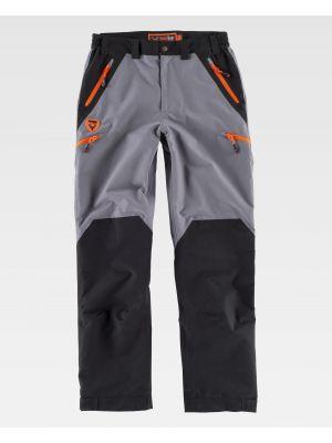 Pantalones de trabajo workteam s8320 de poliéster con logo vista 2