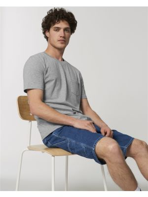 Camisetas manga corta stanley stella creator pocket ecológico con publicidad vista 1