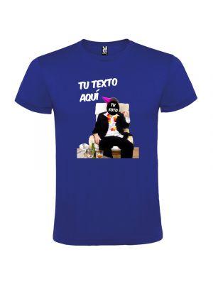 Camisetas despedida hombre para fiestas con diseño de borracho sin fondo 100% algodón con impresión vista 1