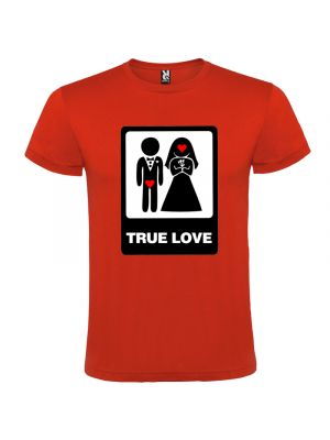 Camisetas despedida hombre de despedidas unisex con dibujo true love 100% algodón con logo vista 1