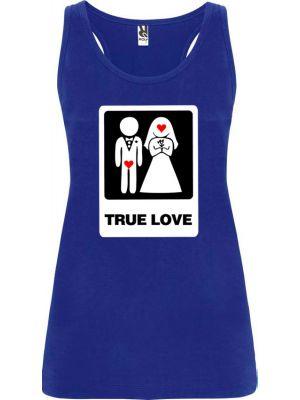 Camisetas despedida mujer de tirantes de despedida true love 100% algodón con impresión imagen 1