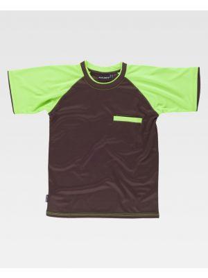 Camisetas reflectantes workteam wf1016 de poliéster con impresión vista 1