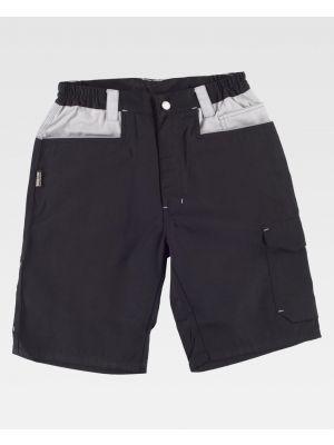 Pantalones reflectantes workteam bermuda con refuerzos y 2 bolsillos de poliéster con impresión imagen 1