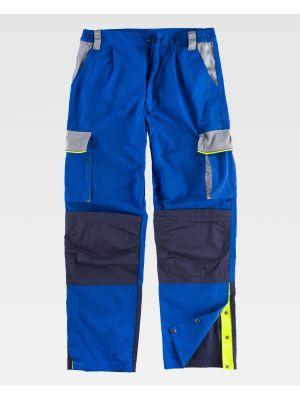 Pantalones reflectantes workteam wf5852 de poliéster con logo imagen 2