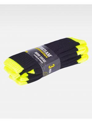 Complementos de industria workteam calcetines wfa021 de acrílico con logo imagen 2