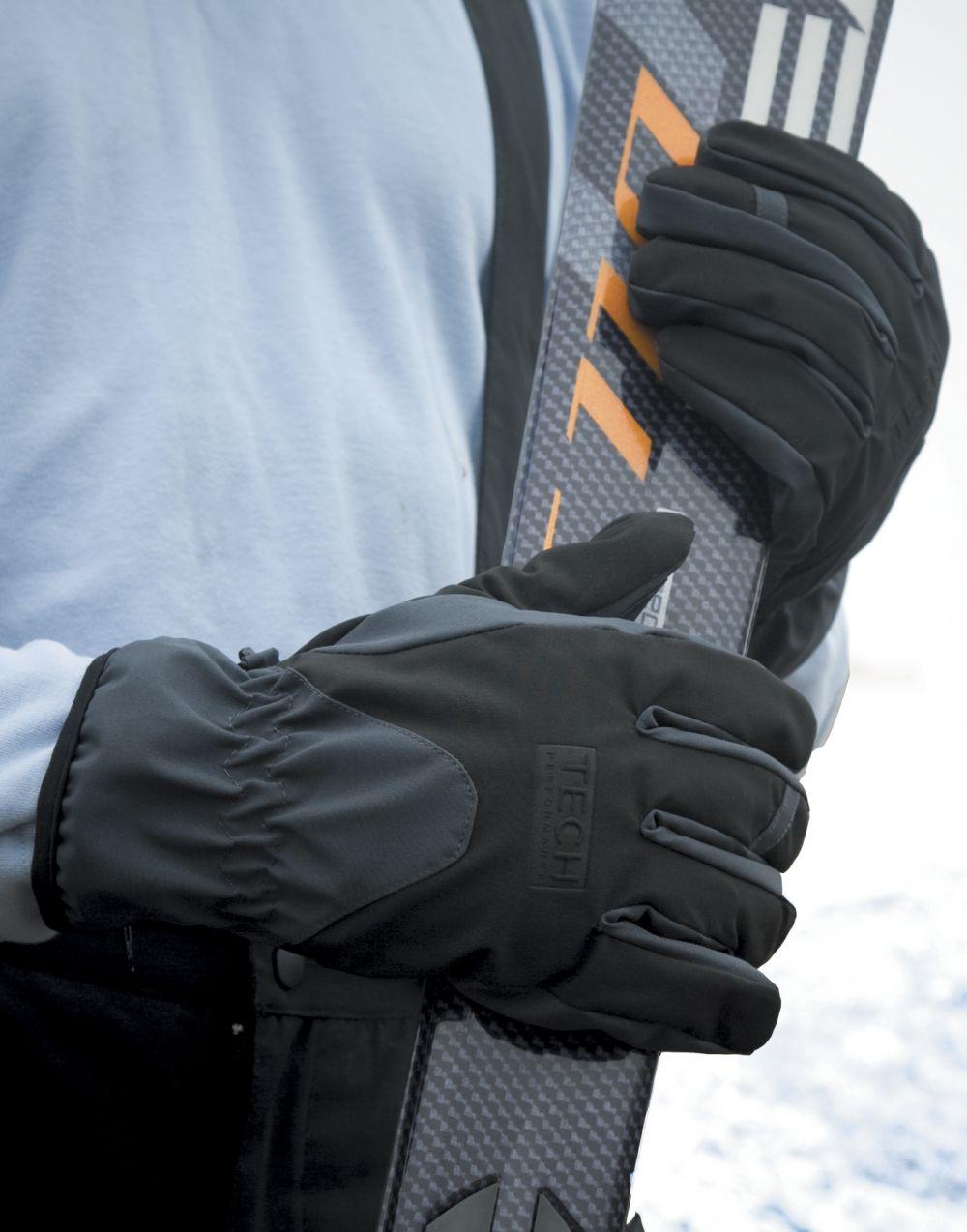 Guantes invierno result guantes softshell performance con logo imagen 1