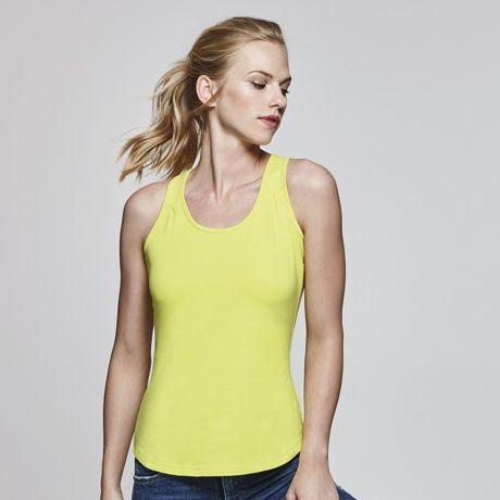 Camisetas técnicas roly nadia mujer de algodon con logo vista 1