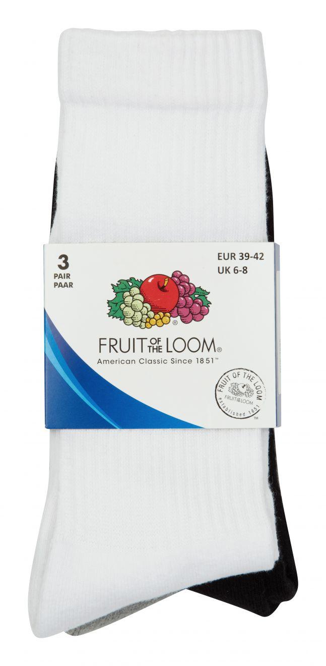 Underwear fruit of the loom calcetines crew con logo vista 3