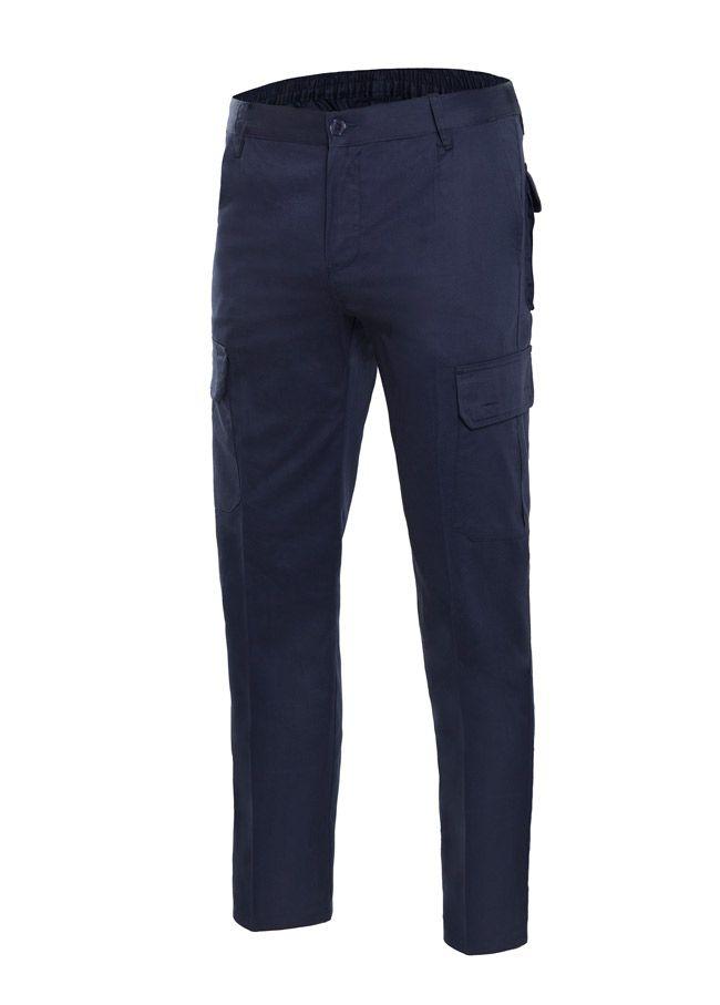 Pantalones de trabajo velilla multibolsillos de 100% algodón con impresión vista 1
