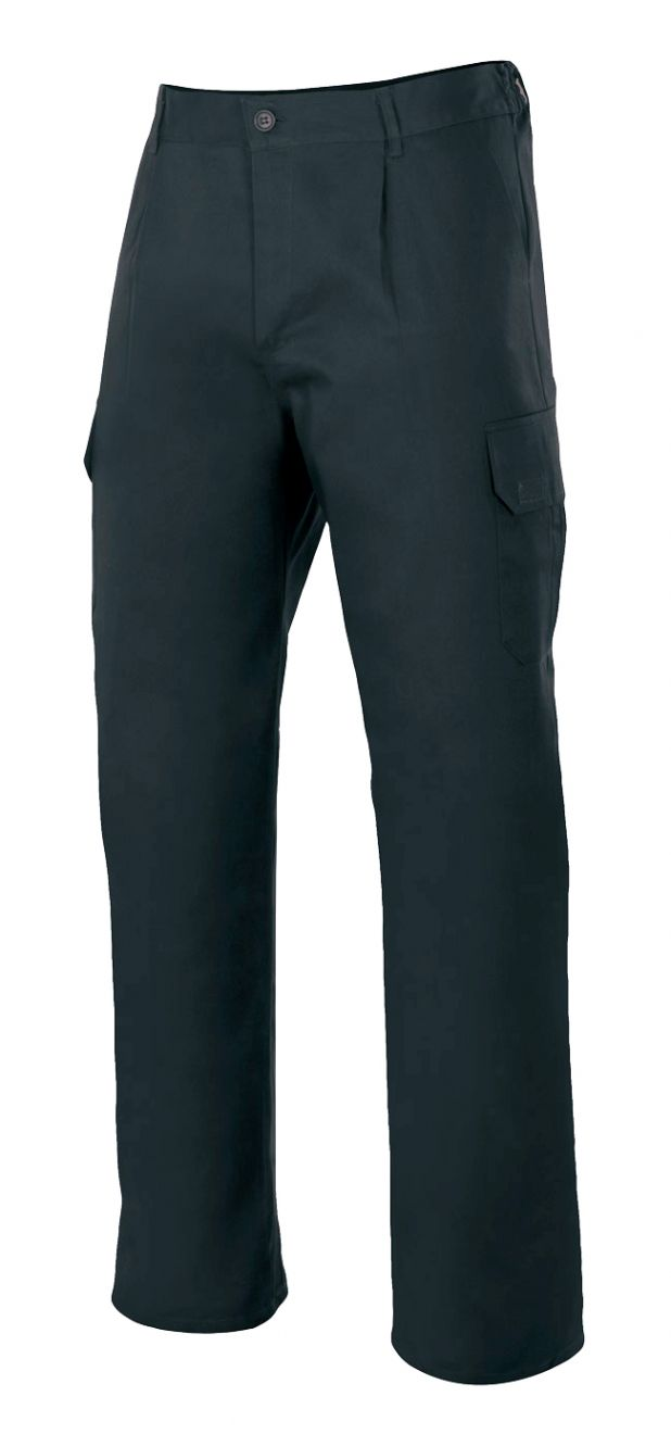 Pantalones de trabajo velilla forrado multibolsillos de algodon con logotipo imagen 1