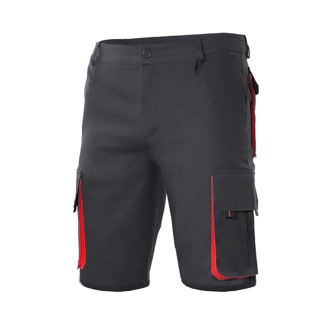 Pantalones de trabajo velilla bicolor multibolsillos de algodon con logotipo imagen 1