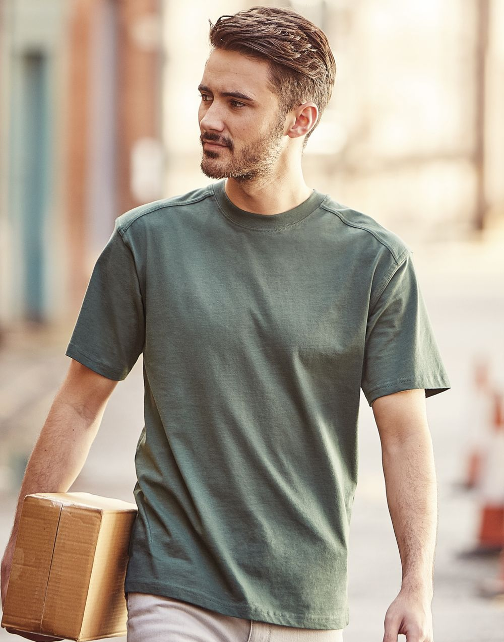 Camisetas de trabajo russell de trabajo heavy duty con logo vista 5