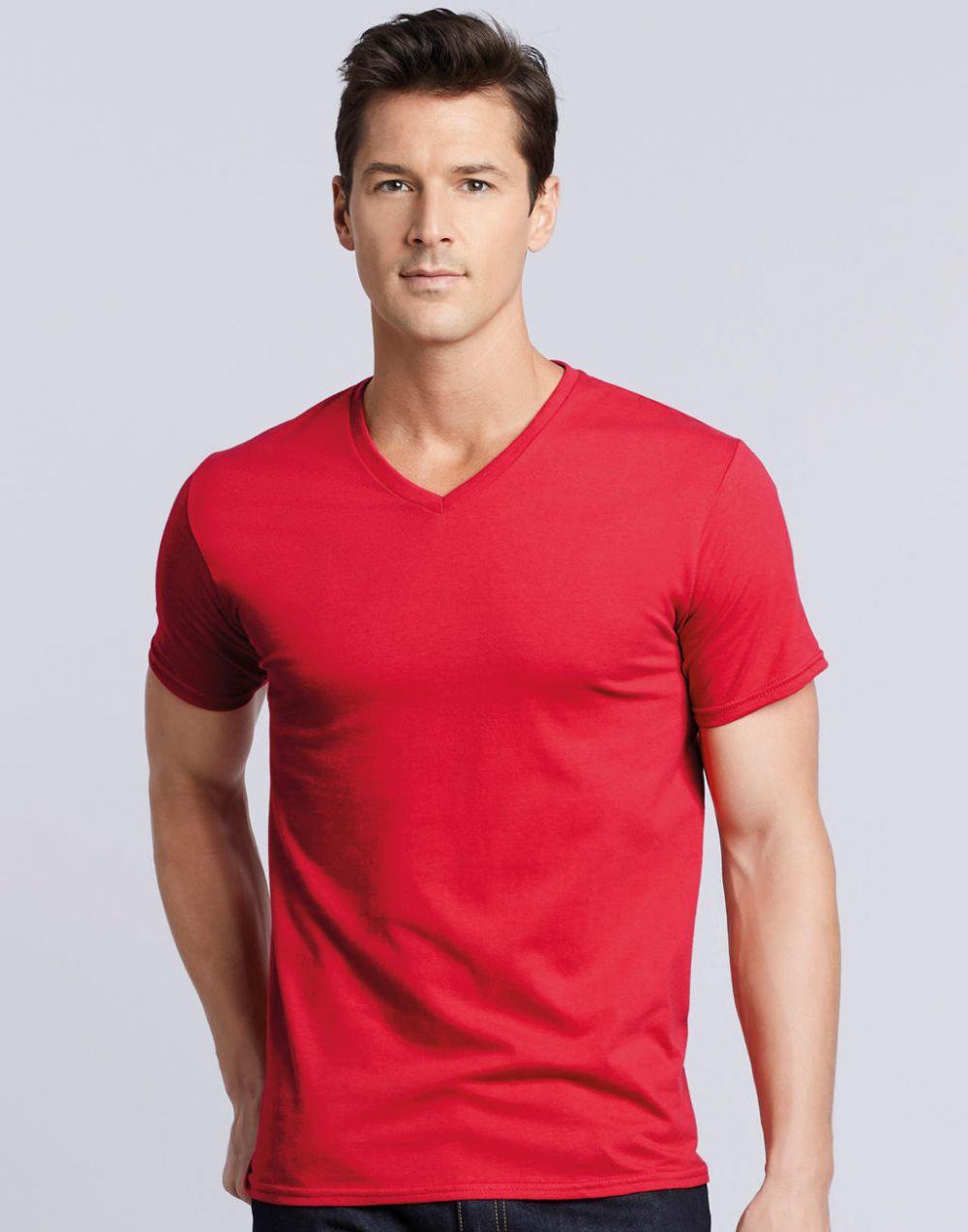 Camisetas manga corta gildan premium cuello v con publicidad imagen 1