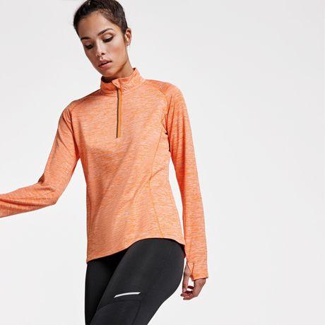 Camisetas técnicas roly melbourne mujer de poliamida con publicidad vista 1
