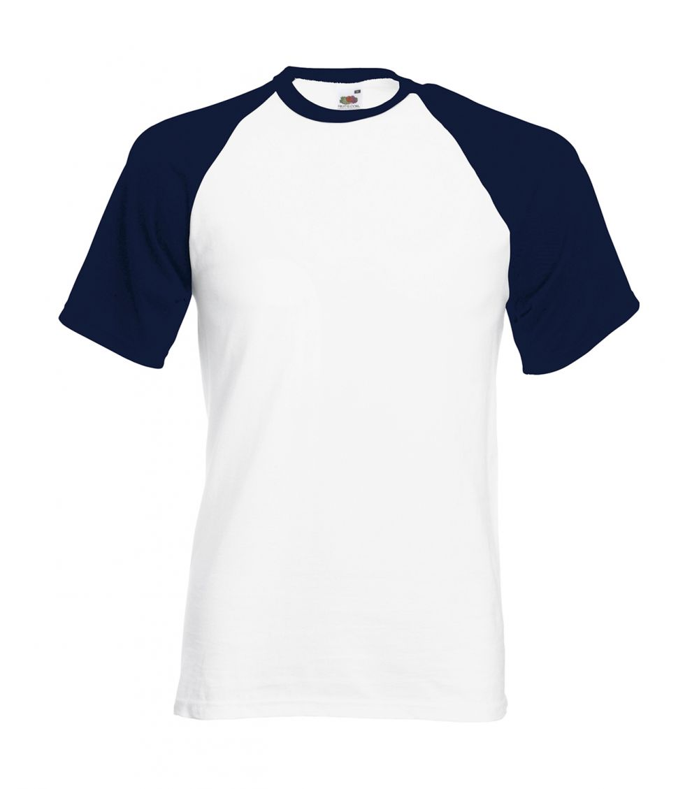 Camisetas manga corta fruit of the loom baseball con publicidad vista 1