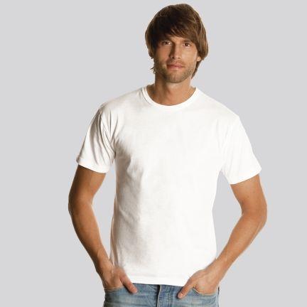Camisetas manga corta keya mc130w de 100% algodón con logotipo imagen 1