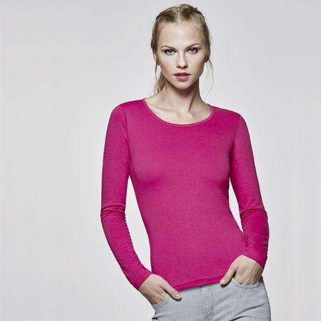 Camisetas manga larga roly extreme mujer de 100% algodón con publicidad vista 1