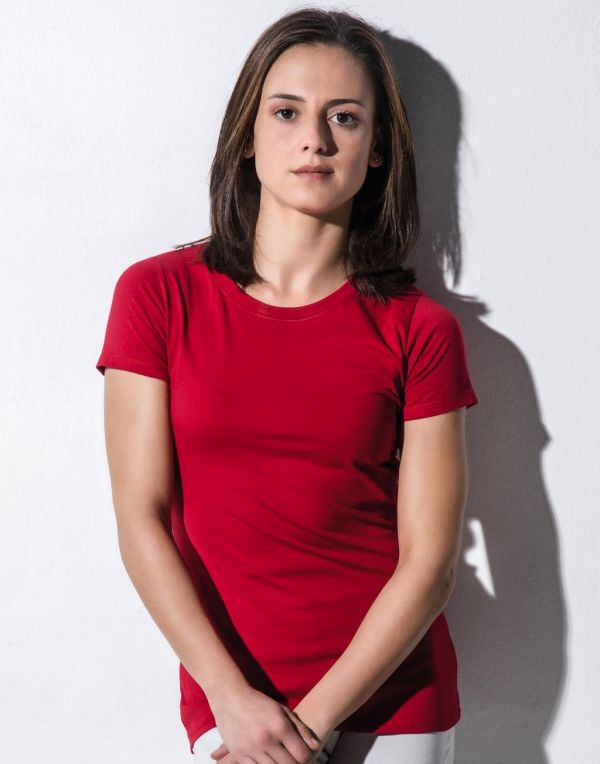 Regalos ecológicos nakedshirt camiseta orgánica ruth ajustada mujer ecológico con logo vista 1