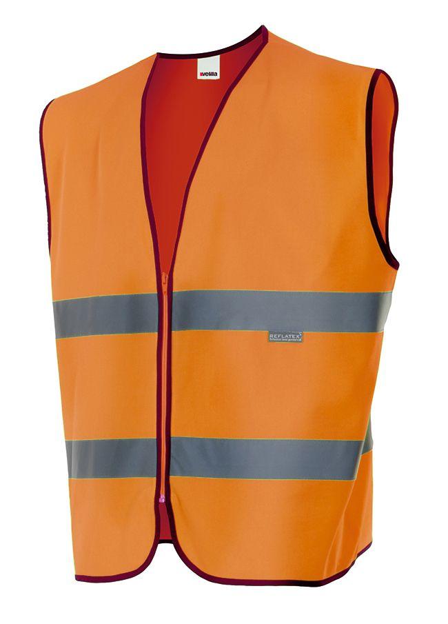 Chalecos reflectantes velilla profesional alta visibilidad de poliéster con logo imagen 1