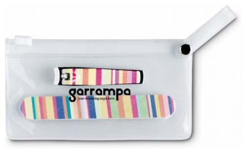 Manicura arme set de manicura en bolsa de pvc con impresión vista 1