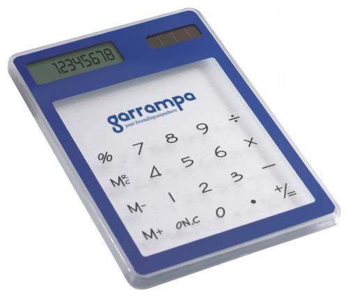 Calculadoras clearal de plástico con impresión vista 1