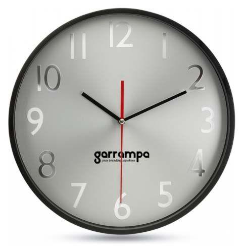 Relojes pared rondo de plástico para personalizar vista 1
