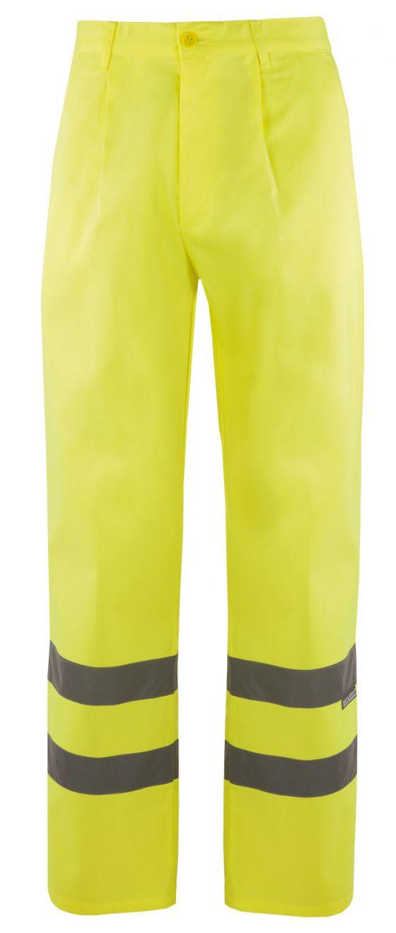 Pantalones reflectantes velilla alta visibilidad 160 de algodon vista 1