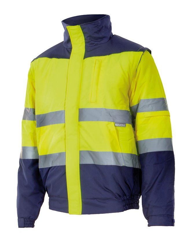 Chaquetas y parkas reflectantes velilla acolchada bicolor alta visibilidad de poliéster vista 1