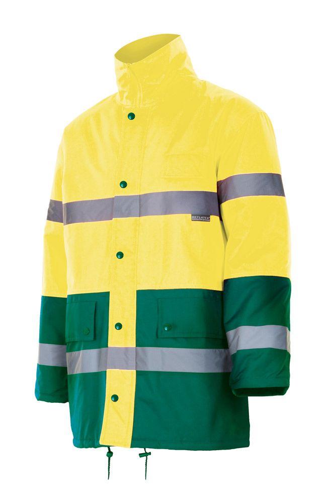 Chaquetas y parkas reflectantes velilla bicolor alta visibilidad 166 de poliéster con logo imagen 1