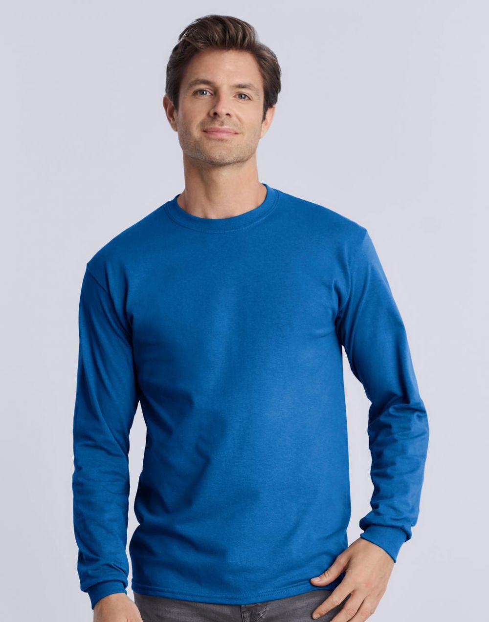 Camisetas manga larga gildan ultra manga larga hombre con logo vista 1