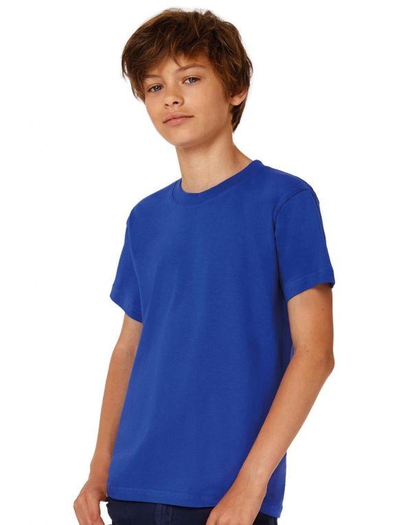 Camisetas manga corta b&c niño exact 190niño t shirt con logo vista 1