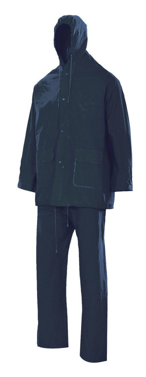 Chubasqueros y cortavientos velilla traje de lluvia dos piezas con capucha de pvc con impresión vista 1