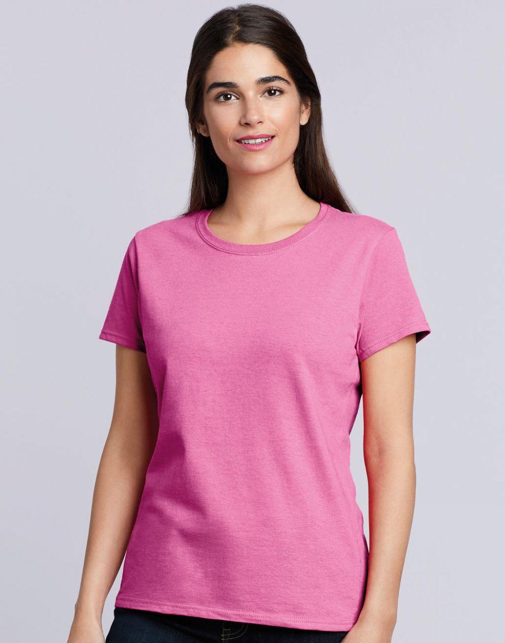 Camisetas manga corta gildan heavy cotton™ mujer con publicidad vista 1