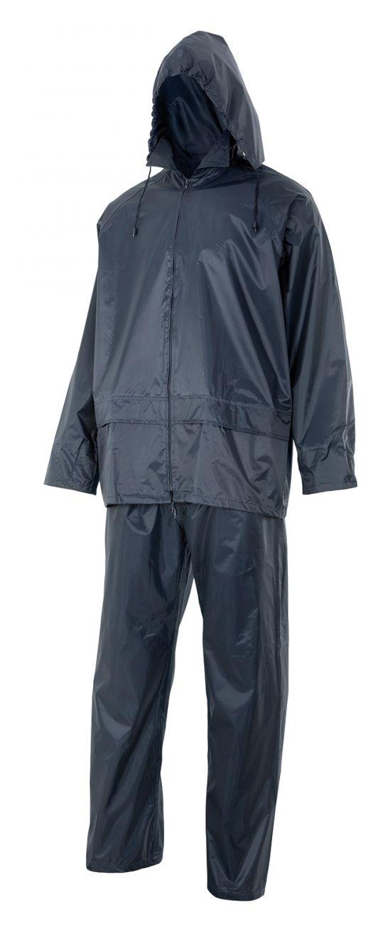 Chubasqueros y cortavientos velilla traje de lluvia dos piezas con capucha oculta de poliéster con impresión vista 1