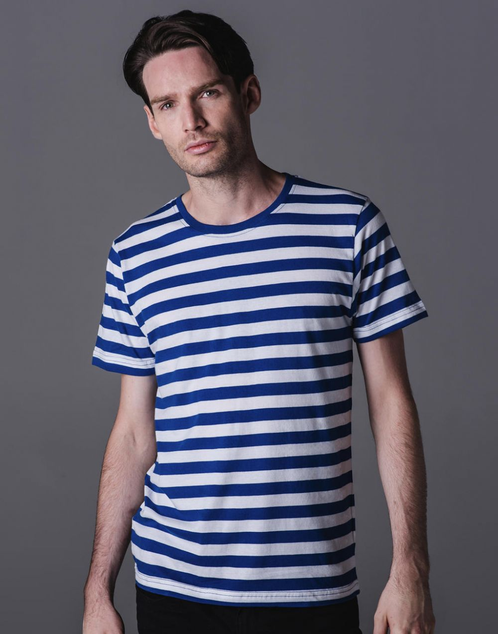 Camisetas manga corta mantis a rayas hombre para personalizar imagen 2