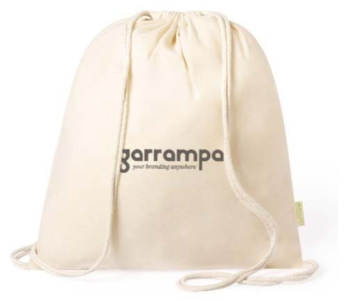 Mochila cuerdas personalizada tibak de 100% algodón ecológico vista 1