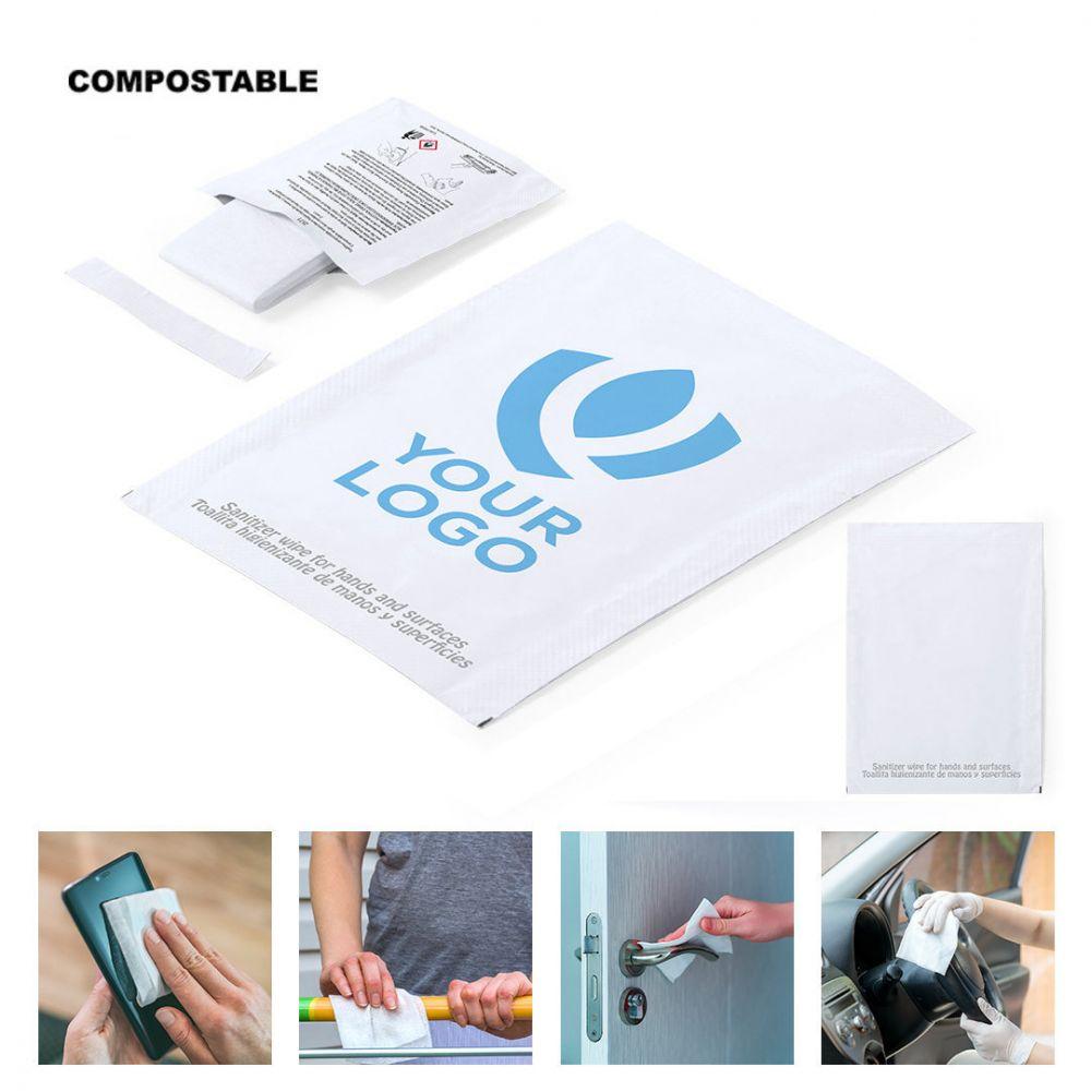 Sseguridad covid toallita higienizante masup de compostable con logo vista 1
