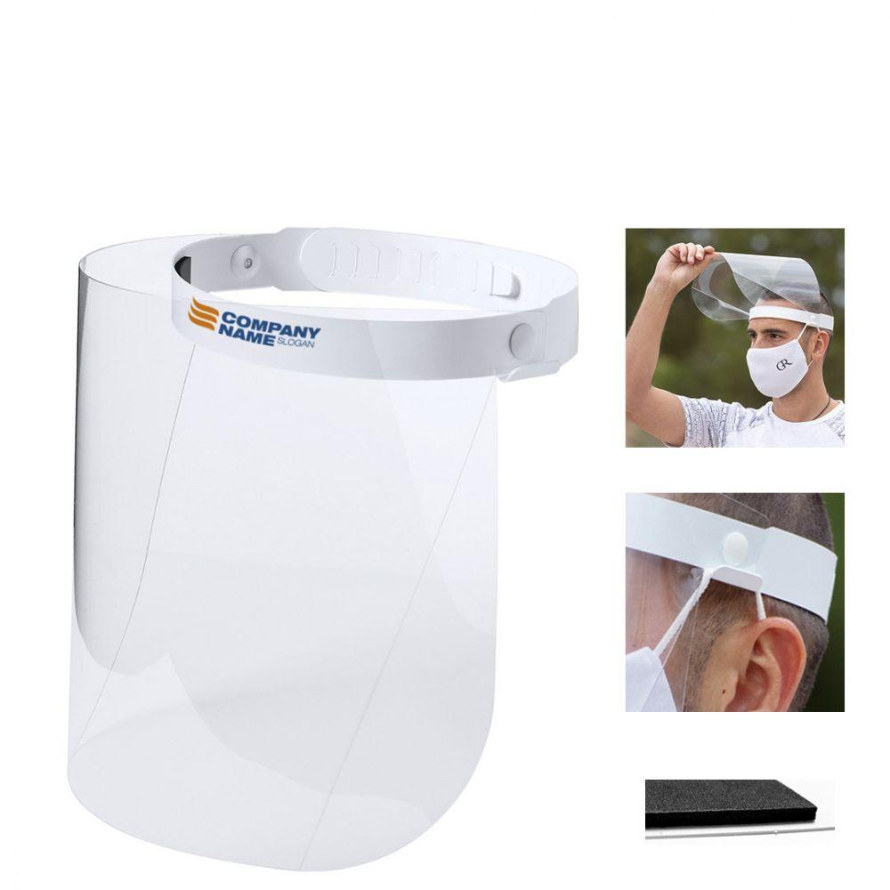 Seguridad covid pantalla facial derol de pet con impresión vista 1