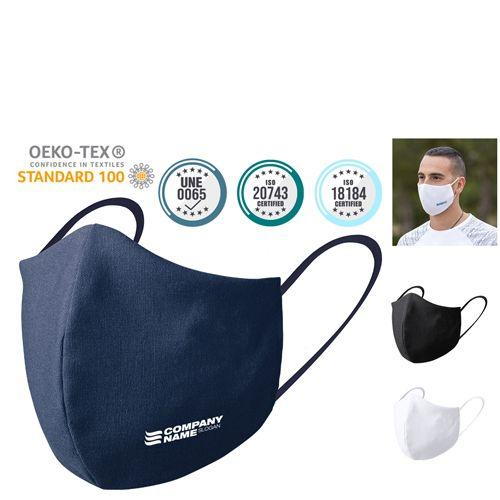 Seguridad covid mascarilla higiénica reutilizable plexcom de poliéster vista 6
