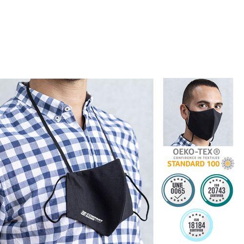 Seguridad covid mascarilla higiénica reutilizable kolgar de poliéster vista 8