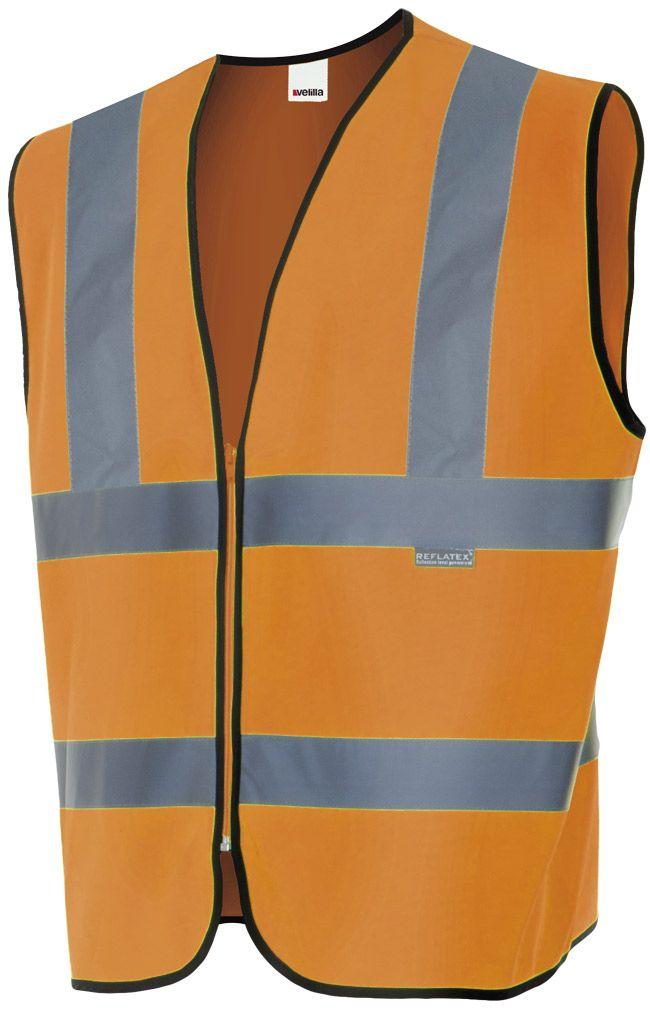Chalecos reflectantes velilla alta visibilidad en hombros de poliéster para personalizar vista 1