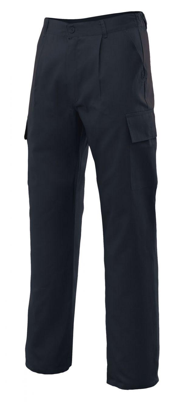 Pantalones de trabajo velilla multibolsillos con 5 bolsillos de algodon para personalizar vista 1