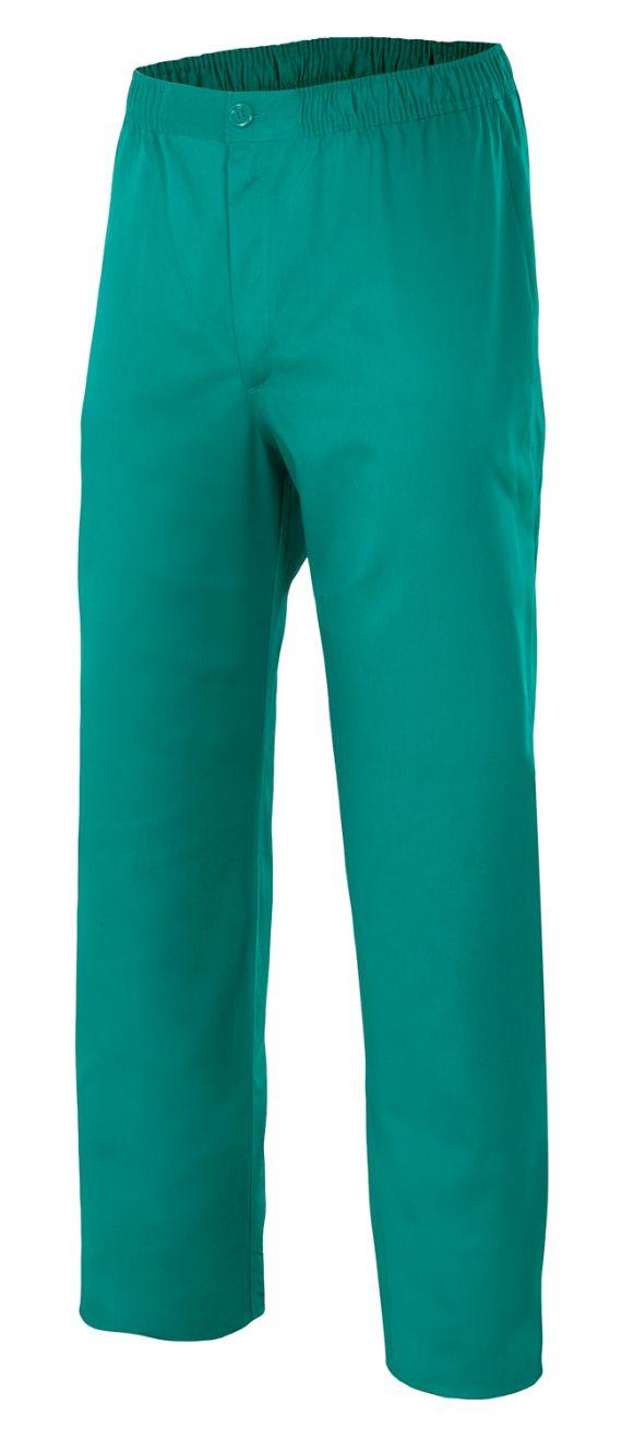 Pantalones sanitarios velilla pijama con cremallera y botón de algodon vista 1