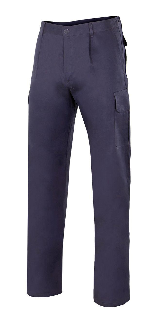Pantalones de trabajo velilla multibolsillos vel343 de 100% algodón imagen 1
