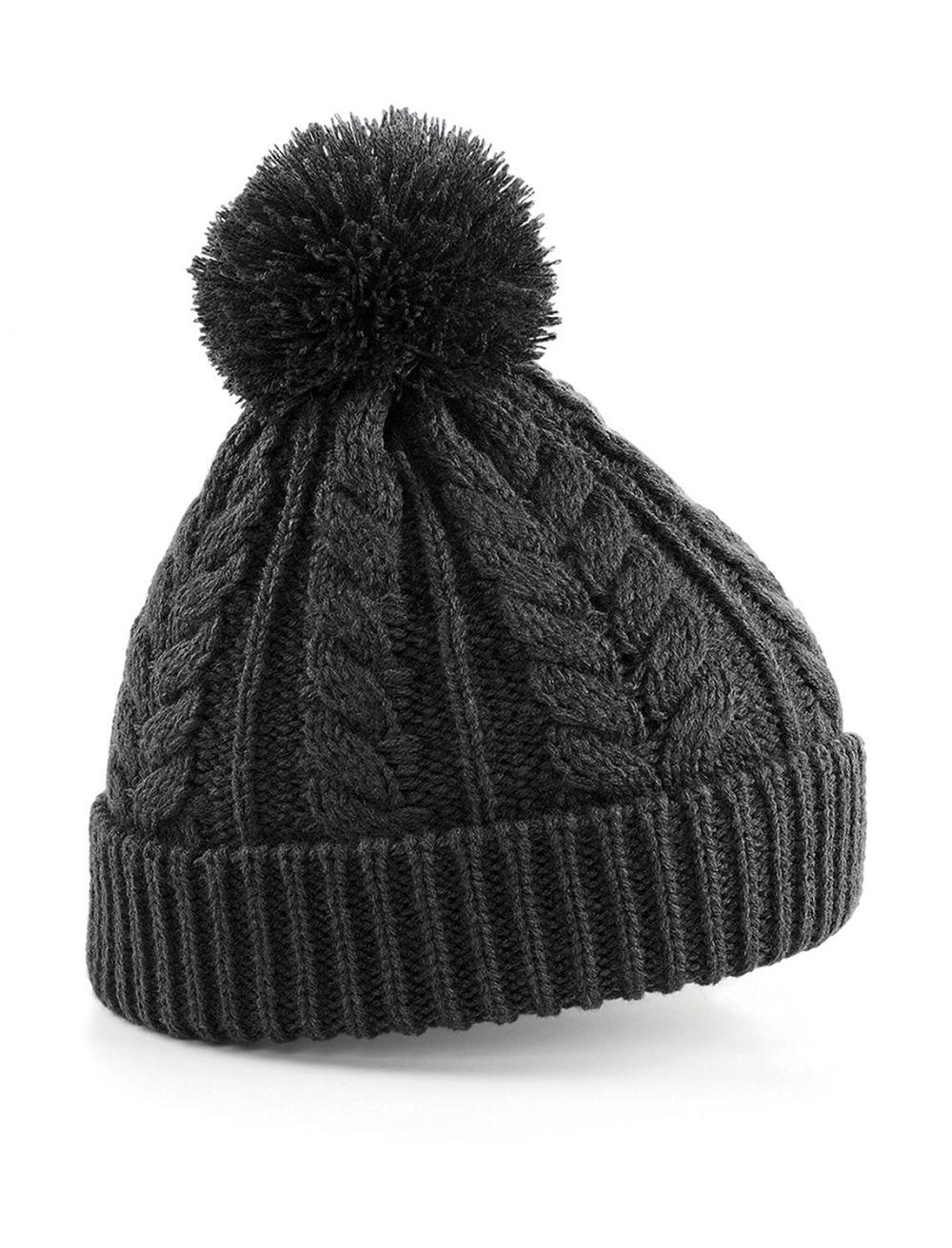 Gorros invierno beechfield snowstar de punto con logo imagen 1