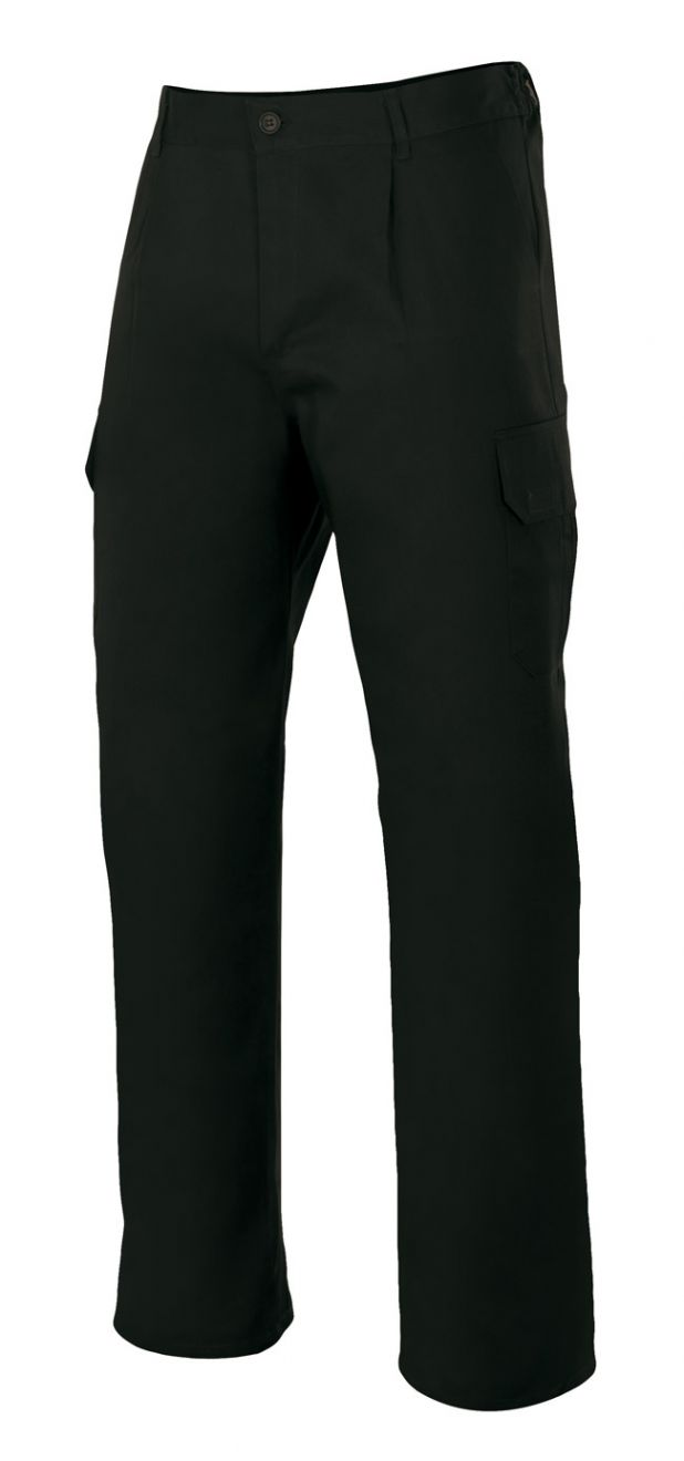 Pantalones de trabajo velilla multibolsillos con 6 bolsillos de poliéster para personalizar vista 1