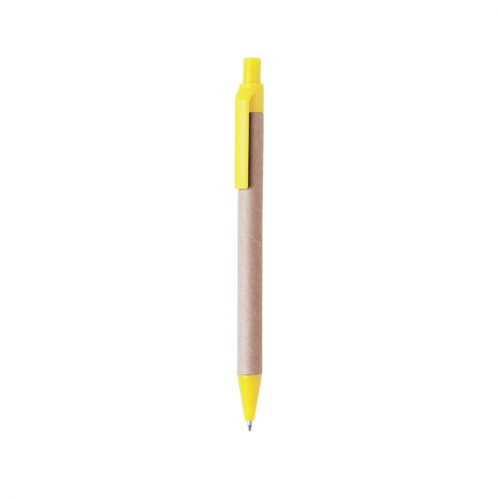 Bolígrafos básicos tori de cartón ecológico con impresión vista 1