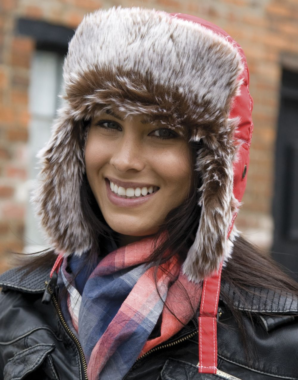 Gorros invierno result sherpa clásico con publicidad vista 1